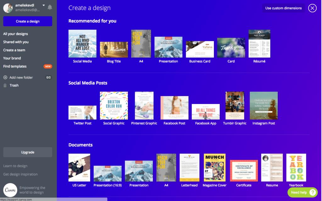 Canva voor en nadelen gratis ontwerpprogramma's
