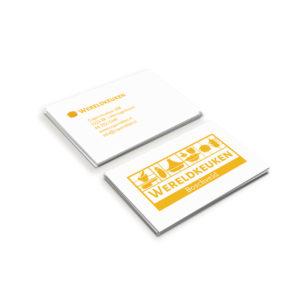ontwerp visitekaartje en logo wereldkeuken