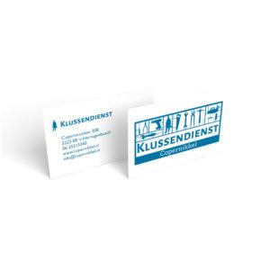 ontwerp visitekaartje en logo klussendienst