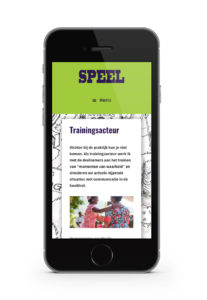 iphone webdesign website speel