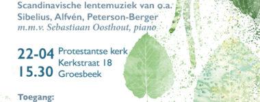 Kom Hjärtans Fröjd! Poster en Flyer voor concert kamerkoor Ton sur Ton